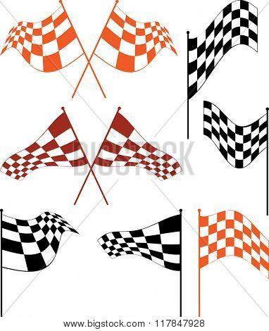 Race Flag Various Designs, Vinyl Ready Raster Illustration