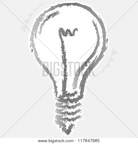 Calligraphic Electric Bulb Stipple Effect