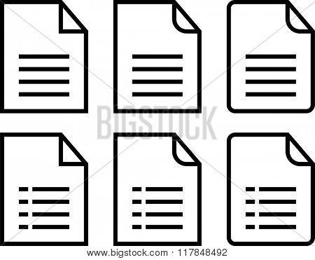 File Icon Symbol Raster Illustration