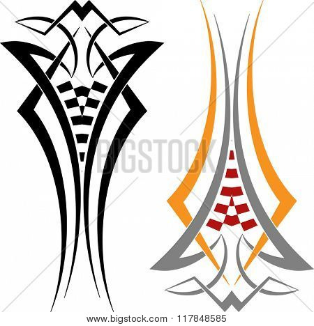 Tribal Car Decal : Vinyl Ready Raster Illustration