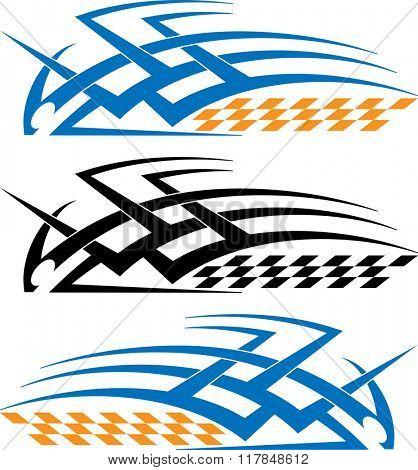 Tribal Car Decal : Vinyl Ready Raster Illustration