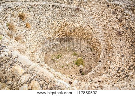 Granary Of Megiddo Fortress, Israel