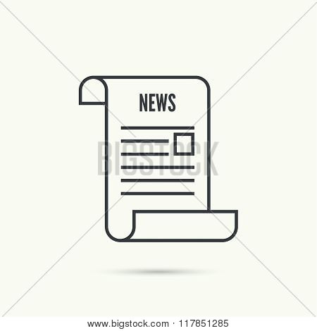Icon newspaper. vector
