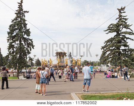 Happy People In Park Enea