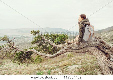Resting On Tree