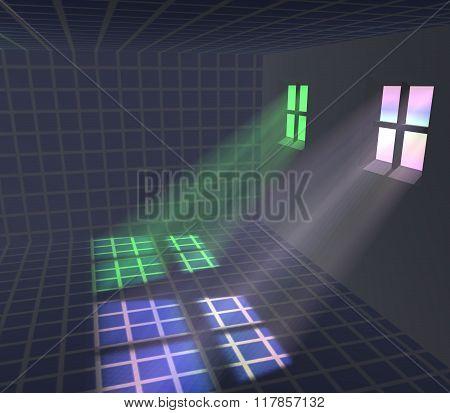 Light Passing Through The Windows