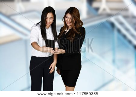 Confident businesswoman who is ready for work