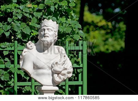 Saint-Petersburg. Russia. Bust of King Midas
