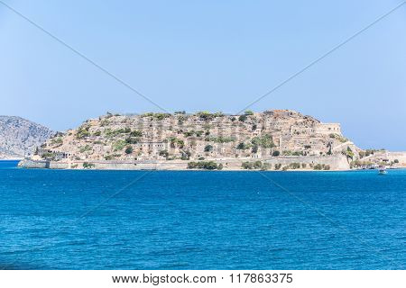 The island of Spinalonga ( Kalydon) in the north-eastern Crete. Greece 19.09.2015.