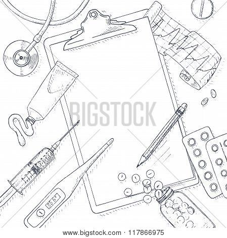 Medical and health background