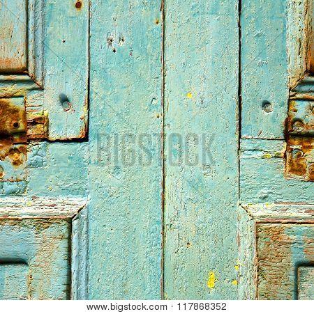 Colorated Dow Door In Lanzarote Spain