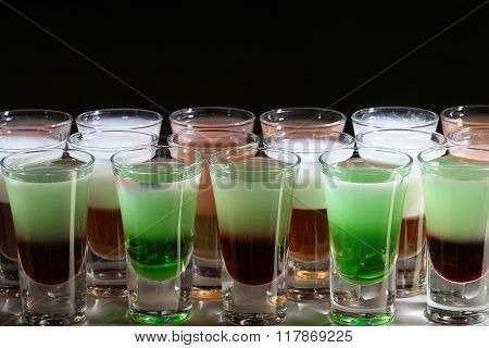 Variety Of Different Multicolored Shots