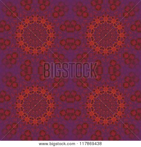 Seamless circle ornaments orange red violet purple
