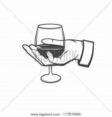 Wineglass Hold Hand