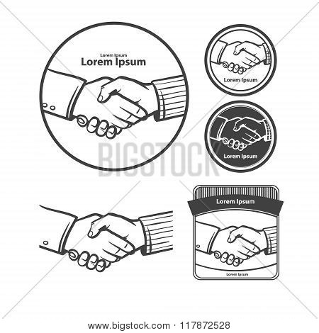 handshake business logo