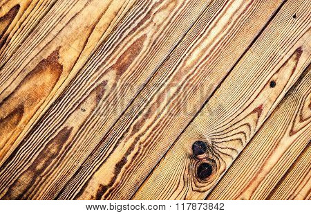 Wooden Boards With Natural Patterns As Background