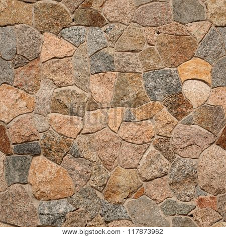 Granite Rubble Seamless Background Texture