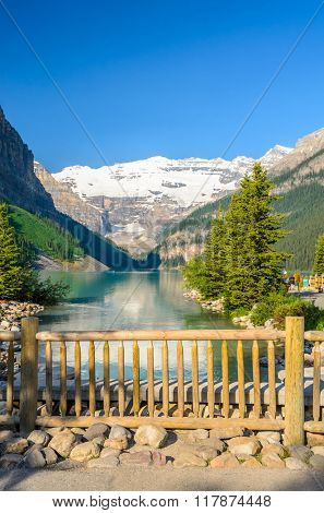 Majestic mountain lake in Canada. Lake Louise, Banff, Alberta.
