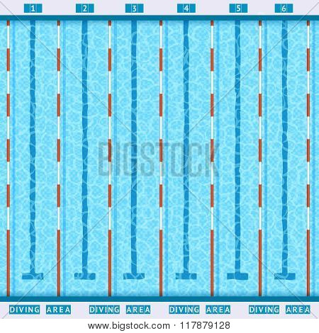 Swimming Pool Top View Flat Pictogram