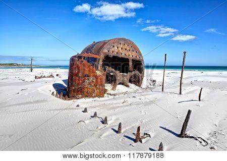 Ship Wreck Near Cape Town