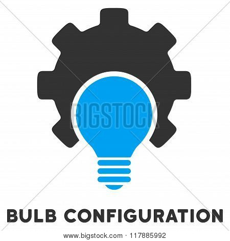 Bulb Configuration Flat Icon with Caption