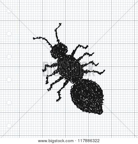Simple Doodle Of An Ant