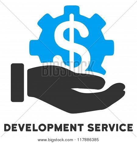 Development Service Flat Icon with Caption