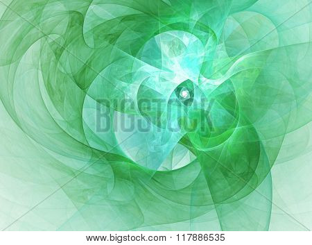 Abstract Fractal Background On Spring And Nature .