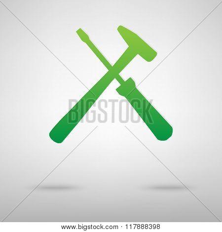 Tool green icon