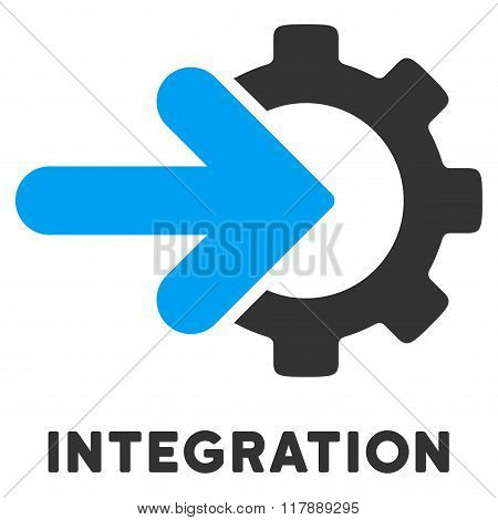 Integration Flat Icon with Caption
