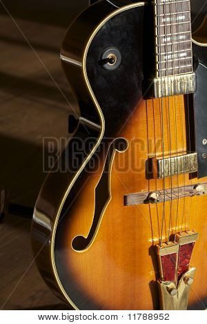 Jazz Guitar On Stand