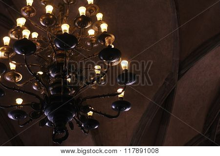 old lamp in palace