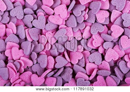 Texture Of Heart Shaped Candies