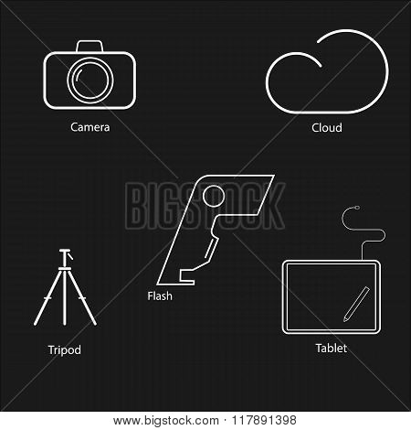 Stroke icons for photography