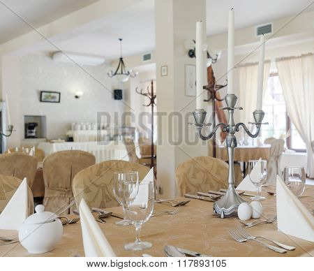 Luxurious Hotel Dining Room Interior