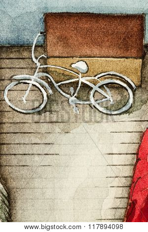 Vintage bike illustration