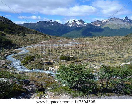 Patagonian Landscape In Tierra Del Fuego In Argentina