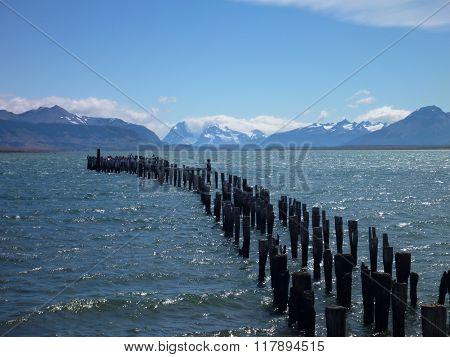 Bay In Puerto Natales In Chilean Patagonia