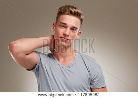Portrait Of Cool Looking Male Teenager
