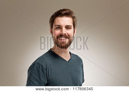 Smiling Young 20S Man With Beard