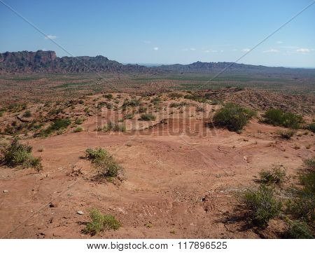 Red Rock Formation At Sierra De Las Quijadas In Argentina