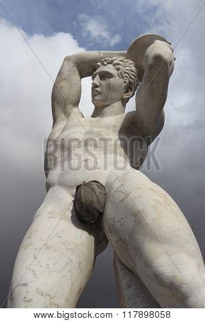 Discobolus  In The Foro Italico, Rome, Italy