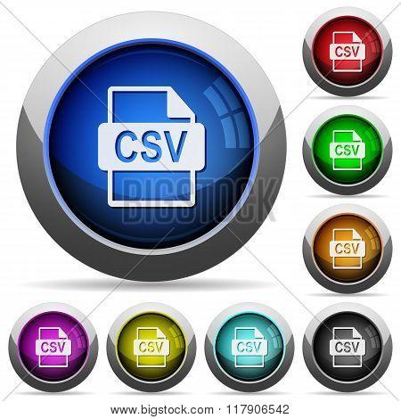 Csv File Format Button Set