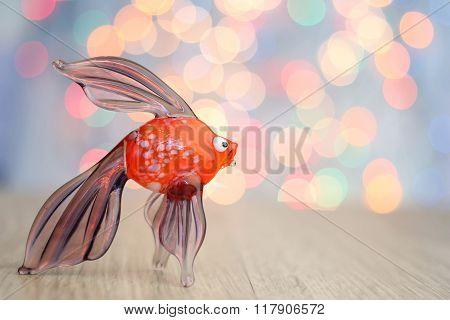 Glass fish souvenir