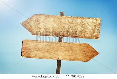 Sign Placard Empty Banner Plank Timber Tranquil Concept