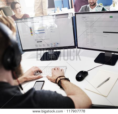 Customer Service Officer Working Assistance Concept