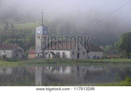 Grandvaux Abbey landscape