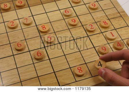 Wood Sudoku Puzzle