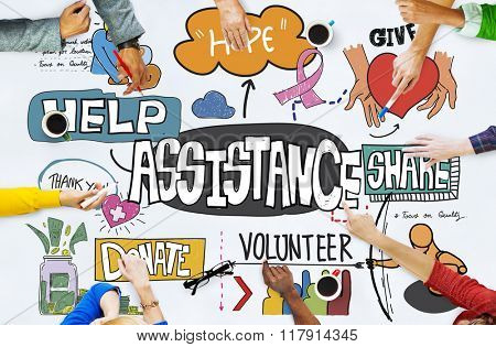 Assistance Support Teamwork Partnership Corporate Concept