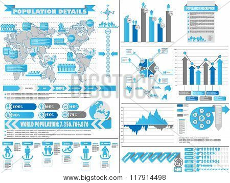 Infographic Demographics 2 Blue